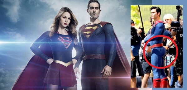 Supergirl -- Image SPG_PUB_SUPERMAN -- Pictured (L_R) Melissa Benoist as Supergirl and Tyler Hoechlin as Superman -- Photo: Frank Ockefels III and Diyah Pera/The CW -- © 2016 The CW Network, LLC. All Rights Reserved